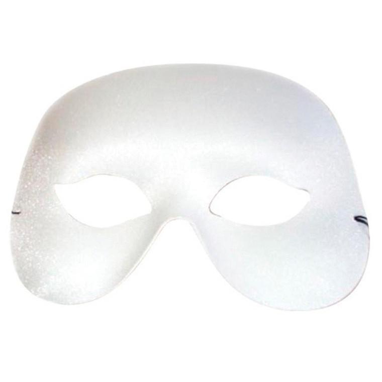 White Cocktail Masquerade Mask
