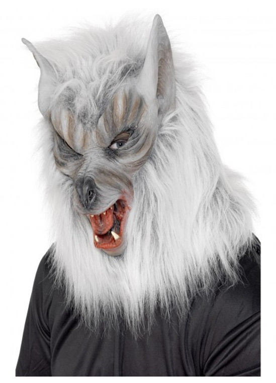 Werewolf Mask Grey Hair