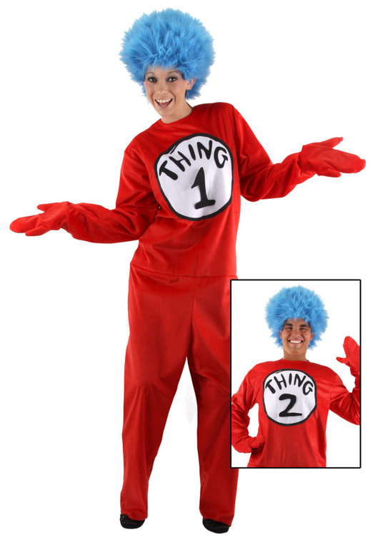 Thing 1 & 2 Deluxe Adult Costume