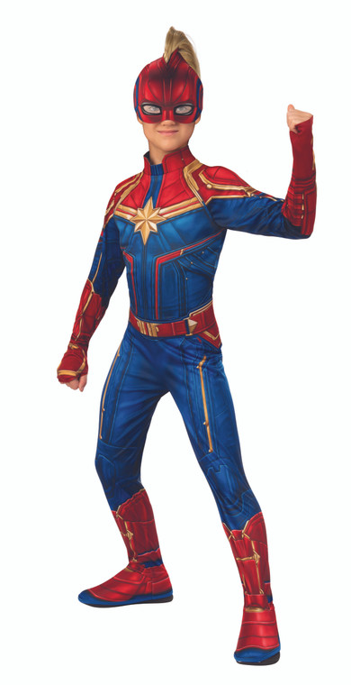 Captain Marvel Classic Girls Costume