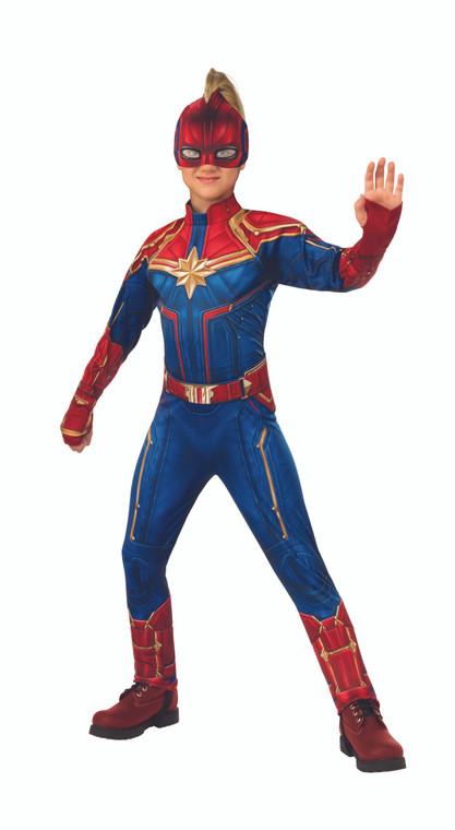 Captain Marvel Deluxe Girls Costume