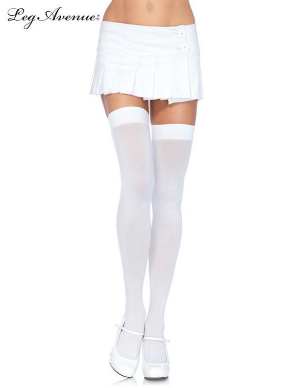 White Thigh Highs - Plus