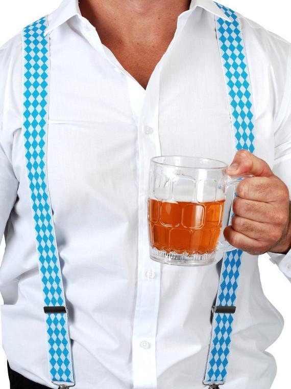 Oktoberfest Blue & White Checkered Braces