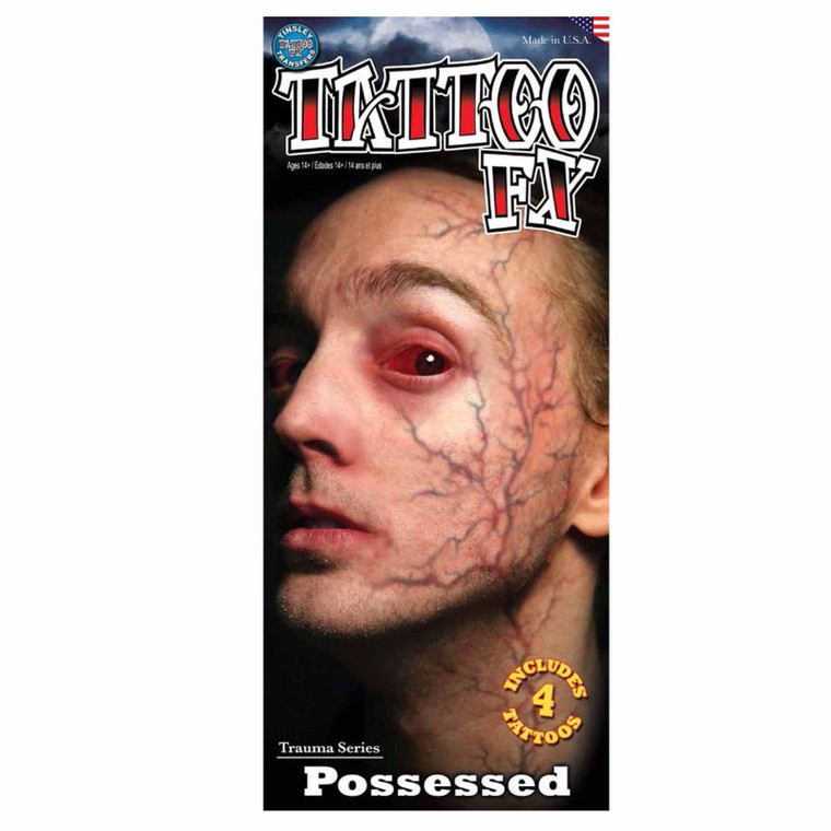 Possessed Trauma Temporary Tattoo
