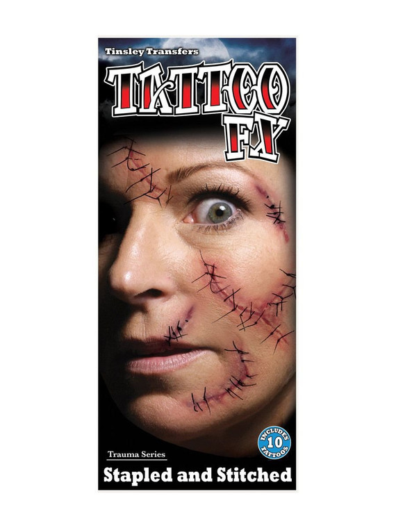 Stitched Trauma Temporary Tattoo