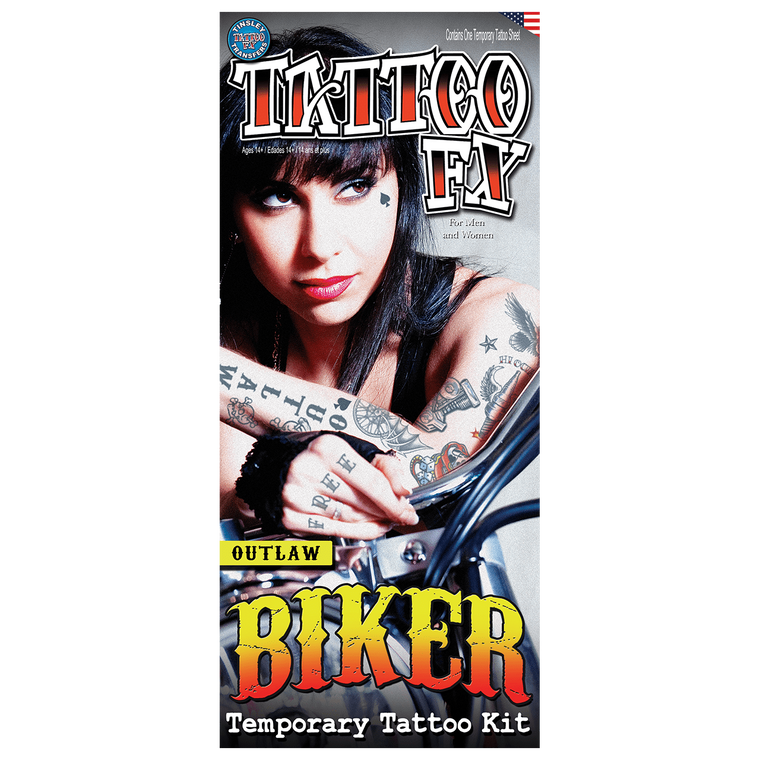 Outlaw Character Temporary Tattoos