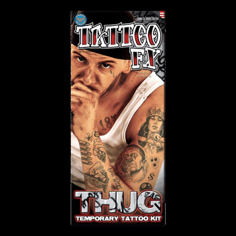 Thug Temporary Tattoos Kit