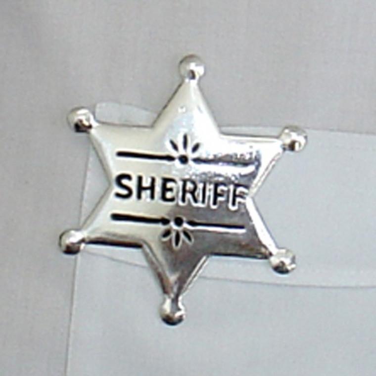 Sheriff Metal Badge