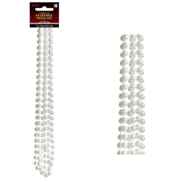 Long Pearlized Necklace Set Of 4