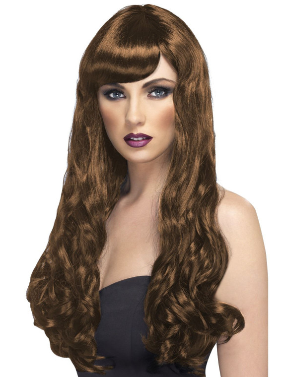 Desire Long Brown Costume Wig