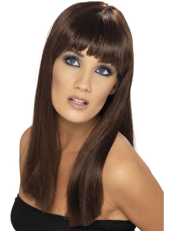 Glamourama Brown Costume Wig