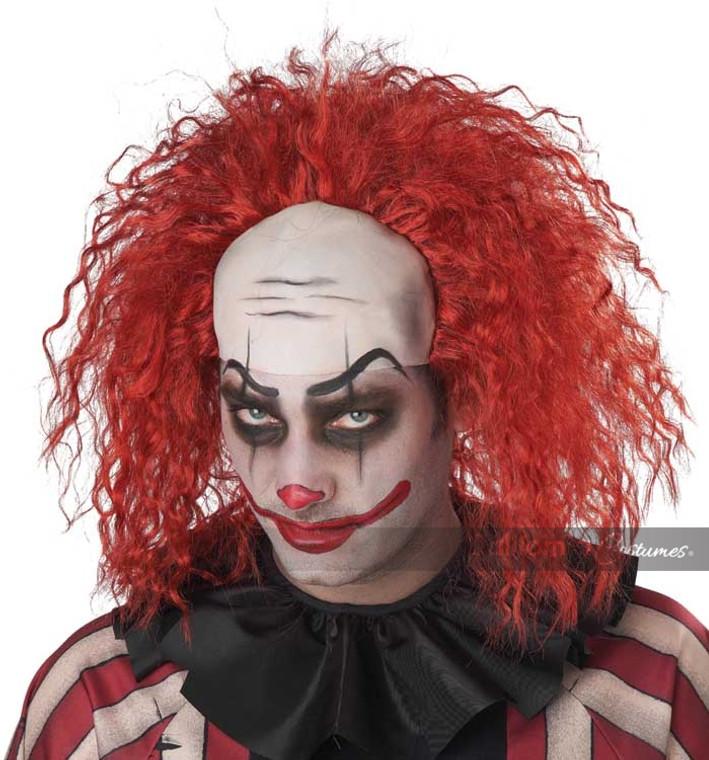 Clown Pattern Baldness Costume Wig
