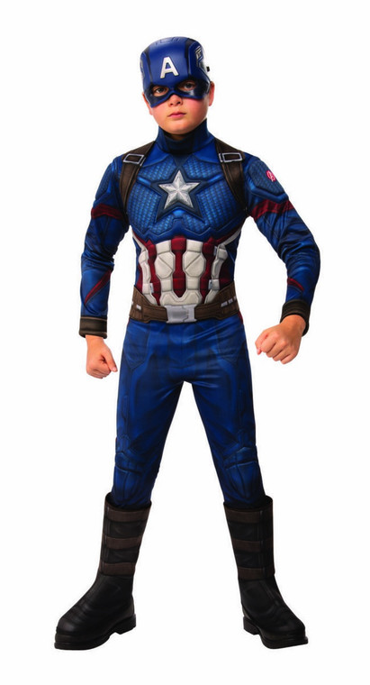 Captain America End Game Padded Chest Boys Costume