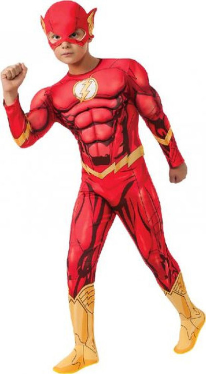 The Flash Deluxe Digital Boys Costume