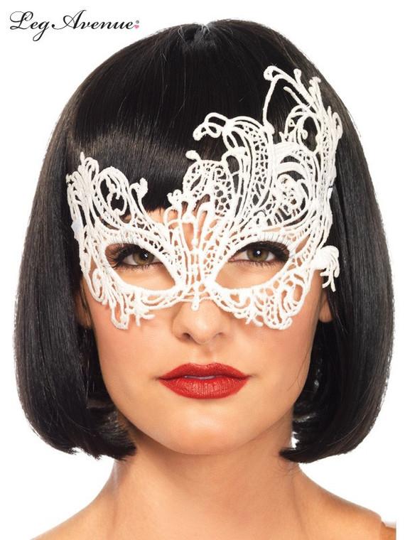 White Venetian Applique Lace Eye Mask
