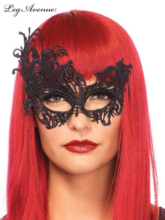 Black Venetian Applique Lace Eye Mask