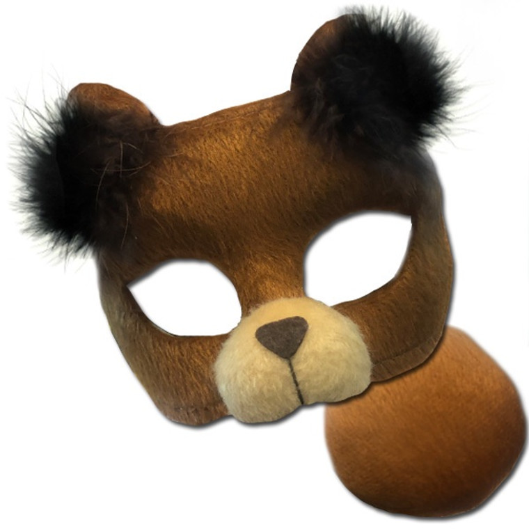 Brown Bear Deluxe Animal Mask And Tail