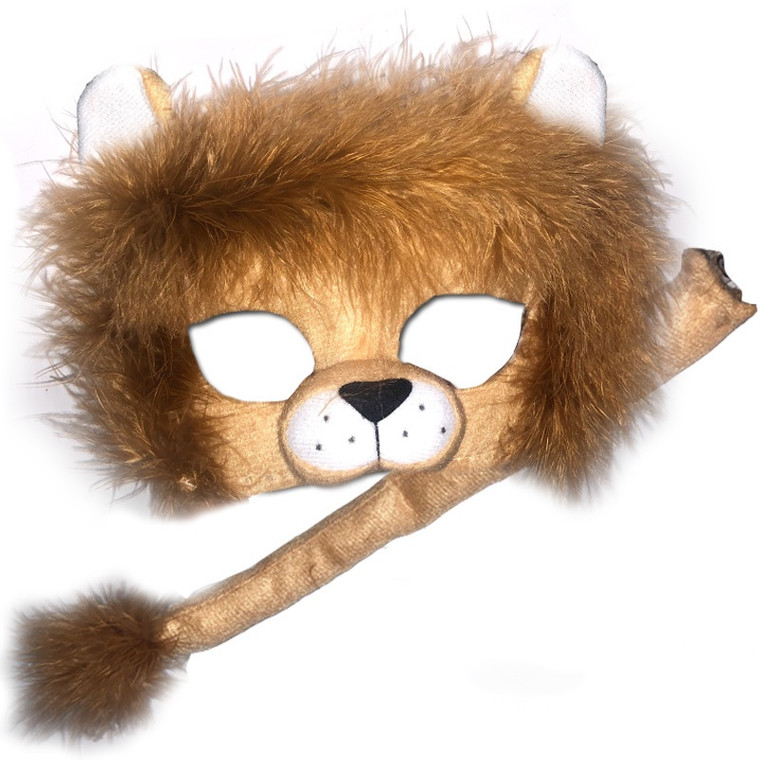 Lion Deluxe Animal Kids Mask And Tail