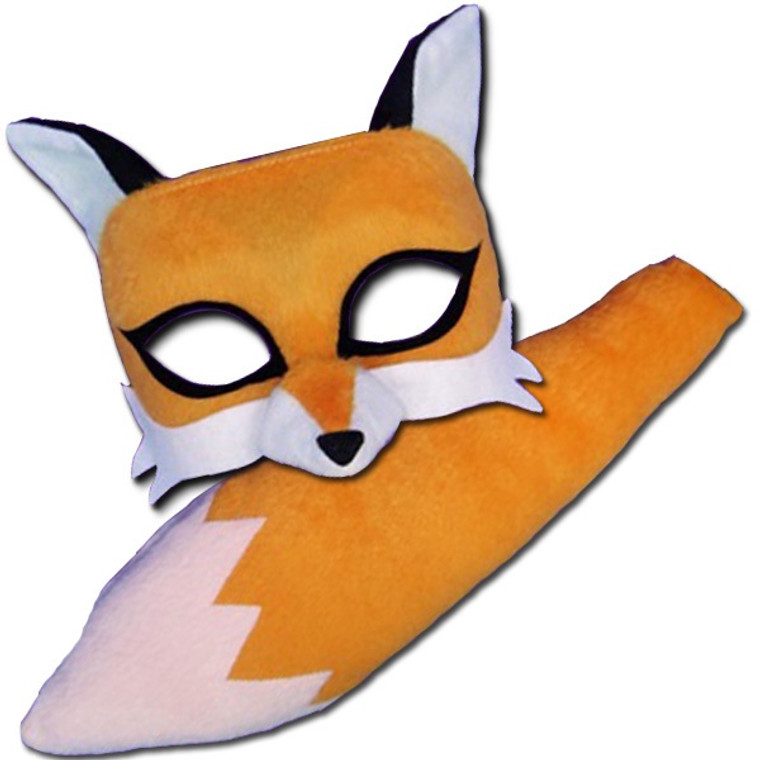 Fox Deluxe Animal Kids Mask And Tail