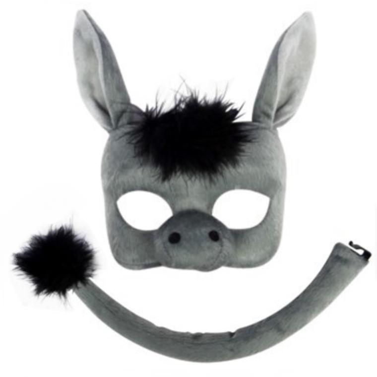 Donkey Deluxe Kids Animal Mask