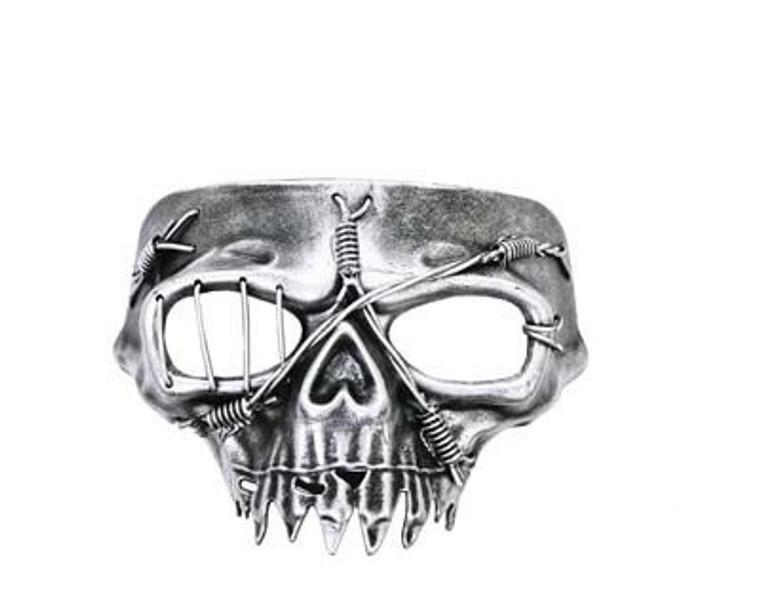 Casper Silver Masquerade Mask