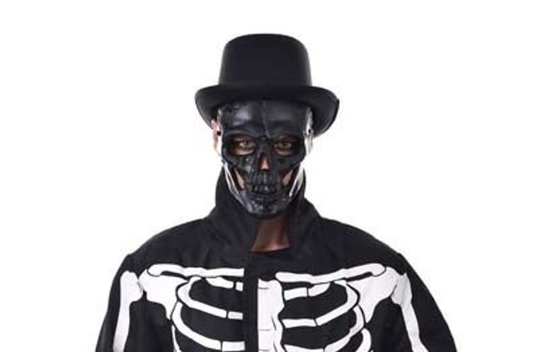 Black Full Face Skull Mask