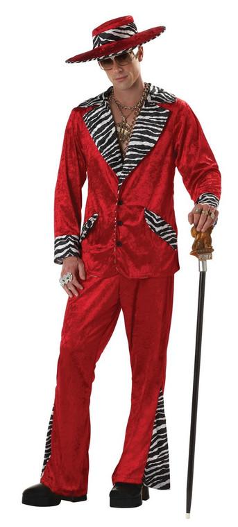 Red Pimp Mens Costume