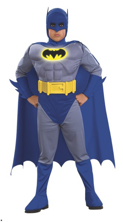 Deluxe Batman Child's Costume with Muscle Chest - The Brave and the Bold