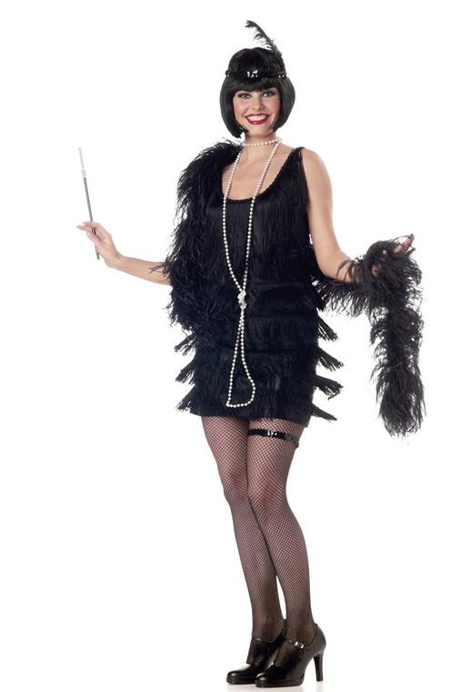 1920s Black Fashion Flapper Womens Costume