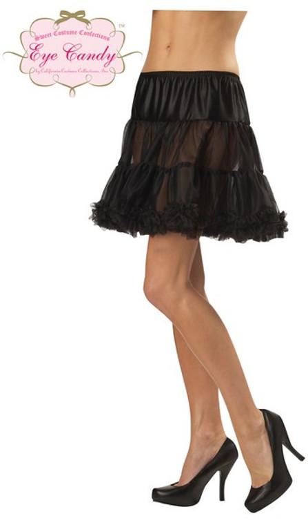 Petticoat - Ruffled Pettiskirt in Black
