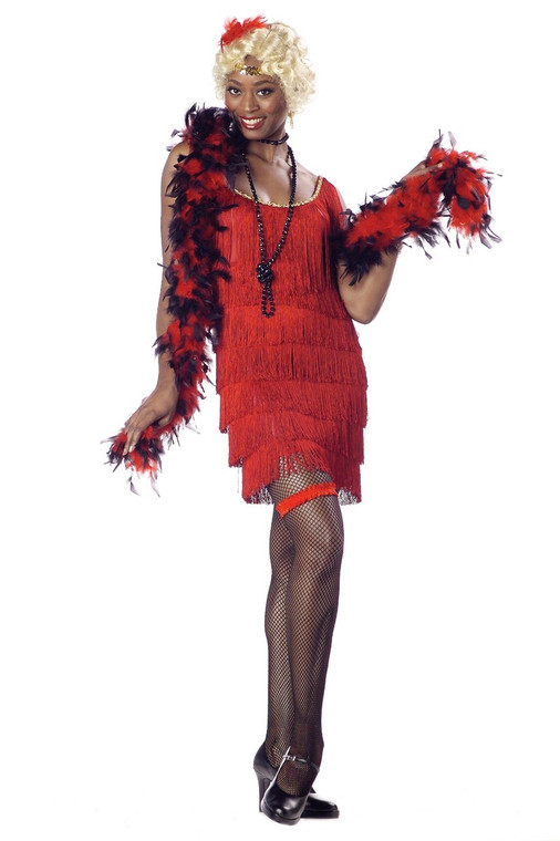 1920s Red Fashion Flapper Costume