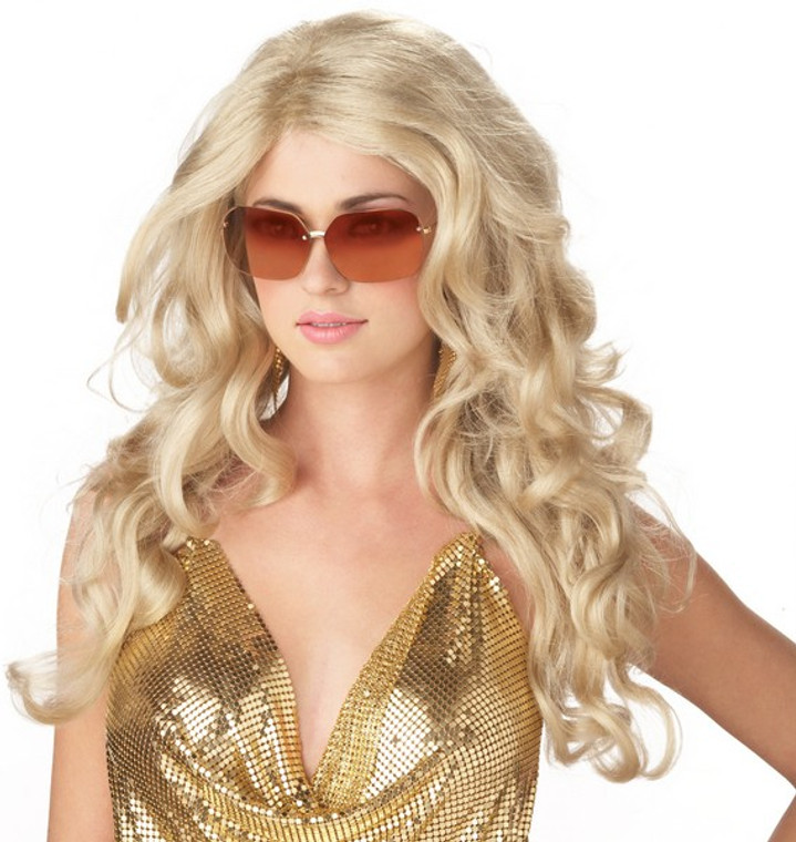 Sexy Super Model Costume Wig - Blonde