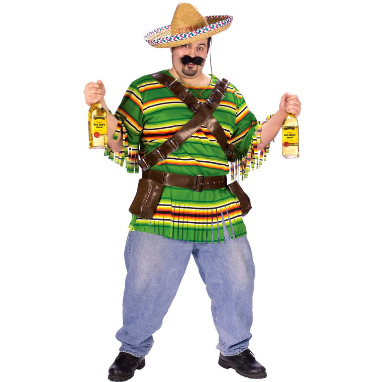 Tequila Poppin Dude Costume - Plus Size