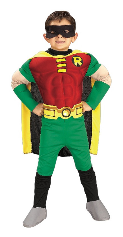 Robin Deluxe Muscle Chest Childs Costume