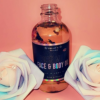 4 oz. Rose Milk Body Oil