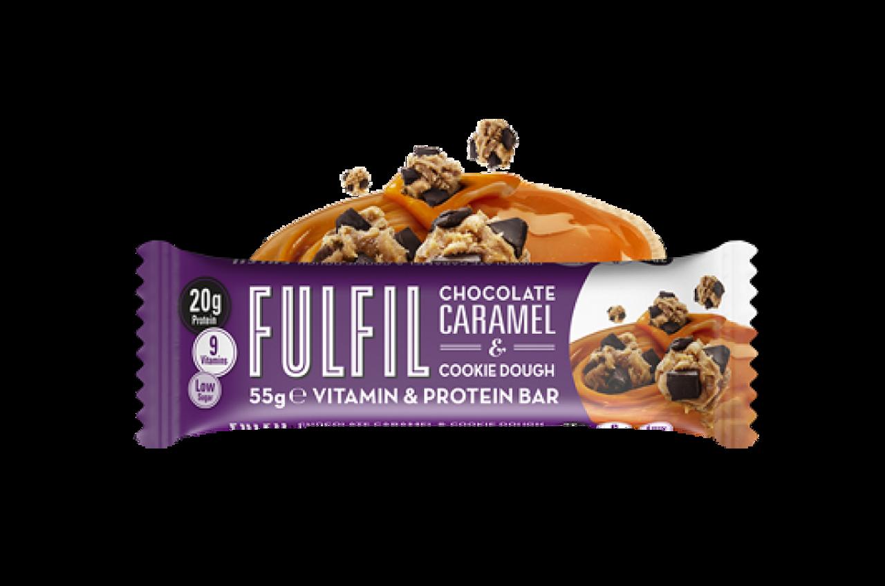 6cb3a519d Fulfil Vitamin   Protein Bar - Chocolate Caramel   Cookie Dough 55g ...