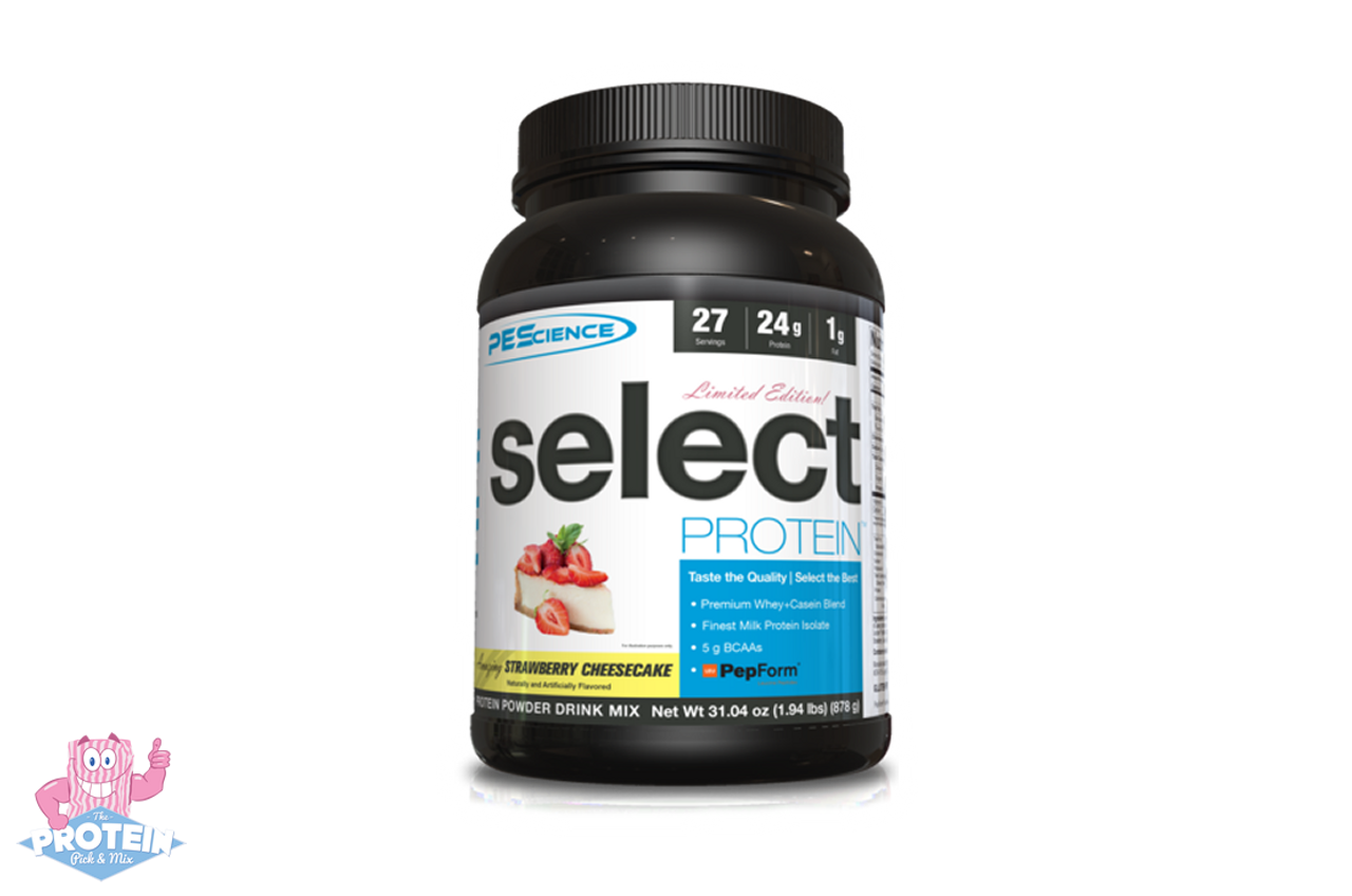 7289614f7b2 PES Select Protein (878g) - Strawberry Cheesecake - The Protein Pick ...