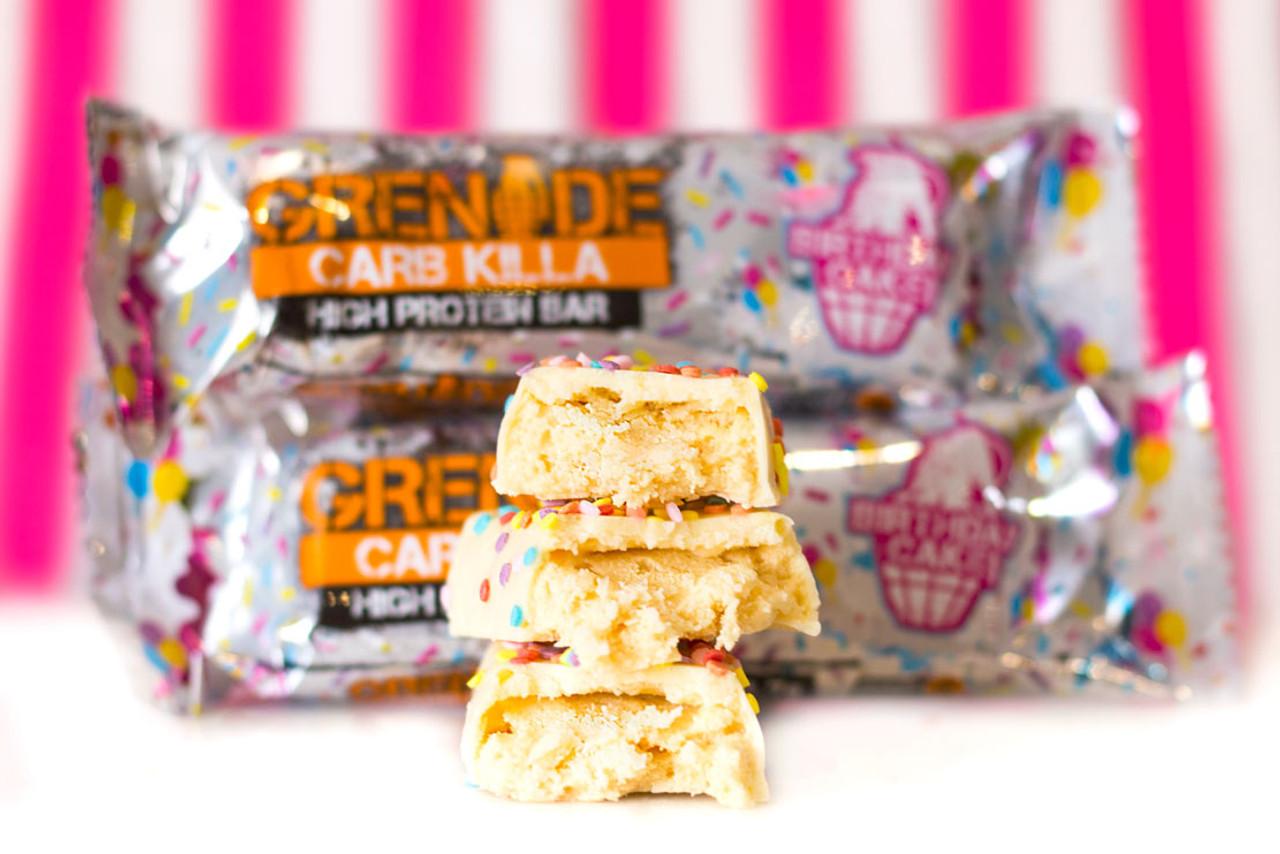 Admirable Grenade Carb Killa Protein Bar Birthday Cake The Protein Pick Personalised Birthday Cards Xaembasilily Jamesorg