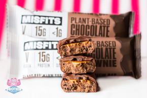 Misfits Chocolate Brownie Vegan Protein Bar