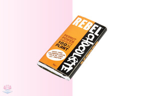 Rebel Plant Based Peanut Powered Chocolate 90g at The Protein Pick and Mix