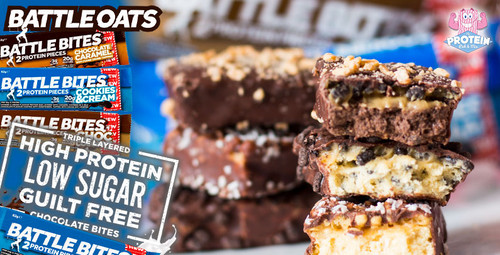 You ready for BATTLE?! Battle Oats' new Battle Bites protein bars, that is!