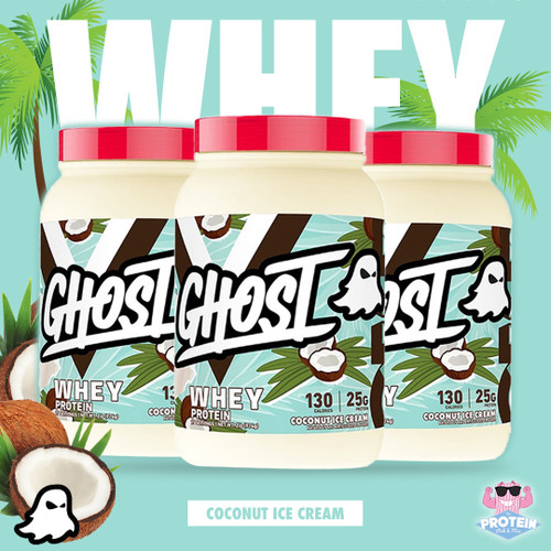 GHOST's Coconut Ice Cream WHEY brings 'Malibu to the Mix' for the Summer season!