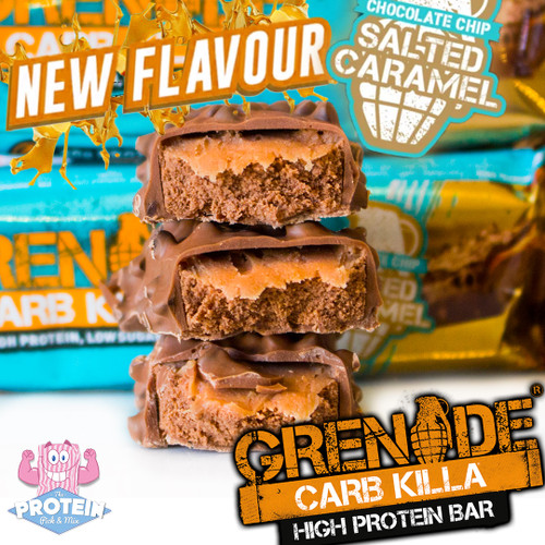 Grenade are set to Carb 'Killa' your caramel cravings with their new Choc Chip Salted Caramel bar!