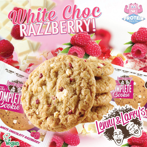 L&L's White Choc Razzberry...prepare yourselves for a cookie that really doesn't blow!