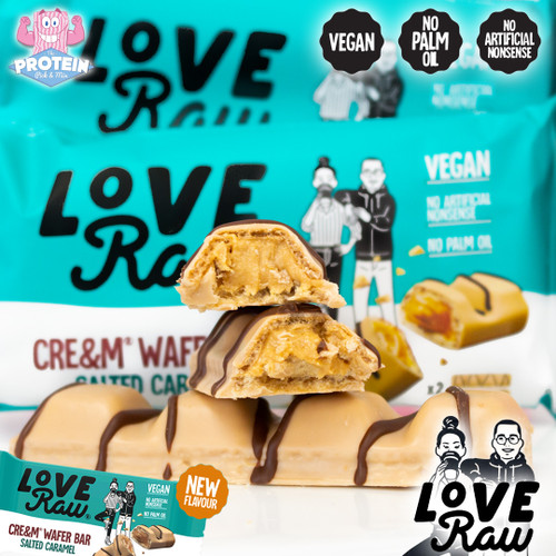 Wondrously wonder-filled Salted Caramel LoveRaw Wafer Bars are in!