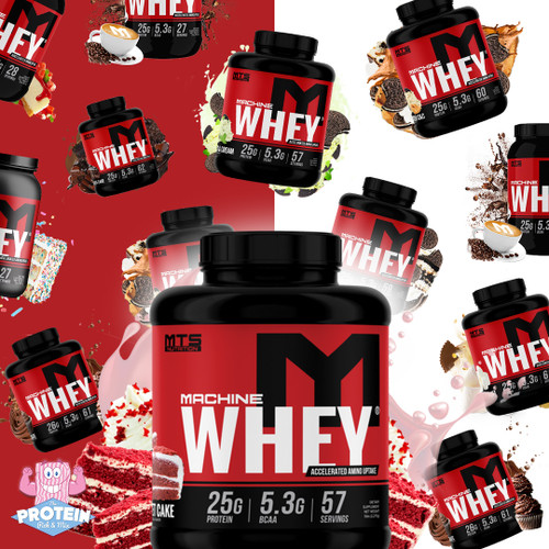 BOOM! MTS Nutrition Machine Whey is back in the Mix, cookie pieces and all!