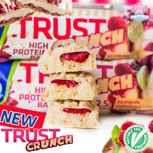 Raspberry Cheesecake inspires USN's latest TRUST Crunch creation!