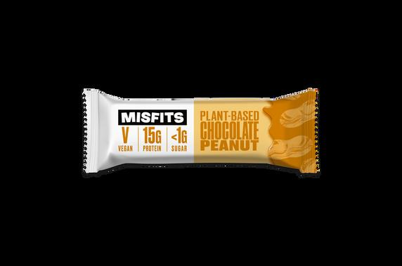 Misfits Plant-Based Chocolate Peanut Bar
