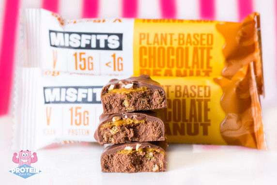 Misfits Vegan Chocolate Peanut Bar