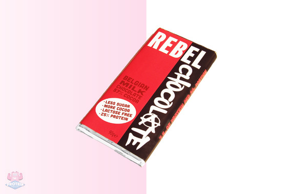 Rebel High Protein Belgian Milk Chocolate Bar 90g at The Protein Pick and Mix